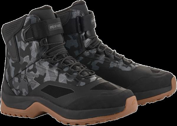 Alpinestars CR-6 Drystar Riding Shoes - Black/Grey/Camo Gum colour