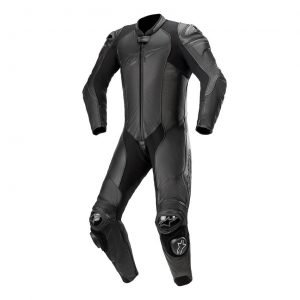 Alpinestars GP Plus v3 Graphite One-Piece Leather Suit Black