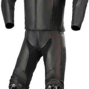 Alpinestars GP Plus v3 Graphite Two-Piece Leather Suit Black