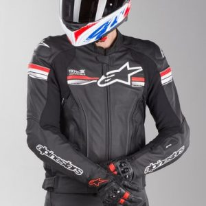 Alpinestars Gp R V2 Leather Jacket - Tech-Air Black & Bright Red