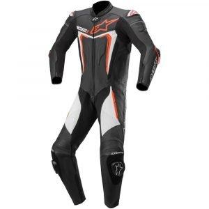 Alpinestars Motegi v3 Leather Suit - Black/Red/Fluo White colour