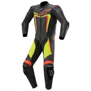 Alpinestars Motegi v3 Leather Suit - Yellow/Fluo Red/Black