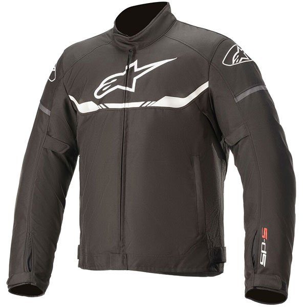Alpinestars T-SPS Waterproof Scooter Jacket - Black/White colour, Motorcycle Clothing Shop