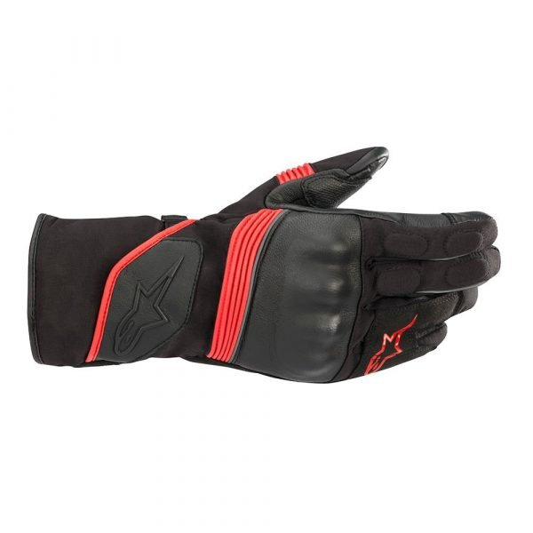 Alpinestars Valparaiso v2 Drystar Gloves - Black/Bright Red colour, MCS