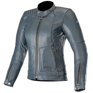Alpinestars Ladies Leather jacket - Stella, Gal Mood Indigo