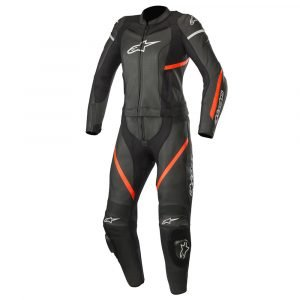 Alpinestars Stella Kira 2Pc Leather Suit Black & Red Fluo