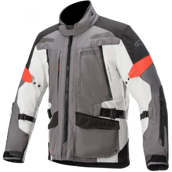 Alpinestars Valparaiso v3 Drystar Jacket - Grey & Red colour, UK