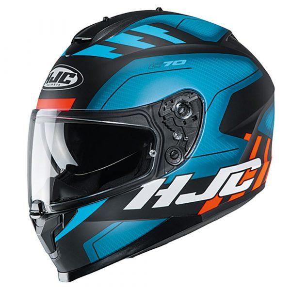 HJC C70 Koro MC21F Helmet - Blue colour, Chelsea, London, UK
