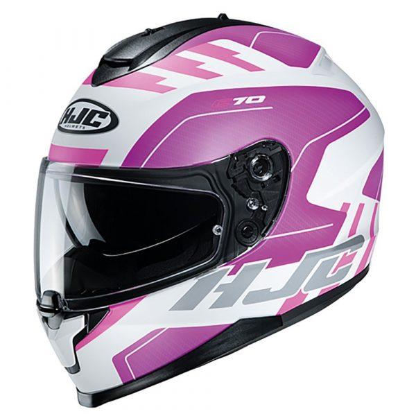 HJC C70 Koro MC21F Helmet - Pink colour, London