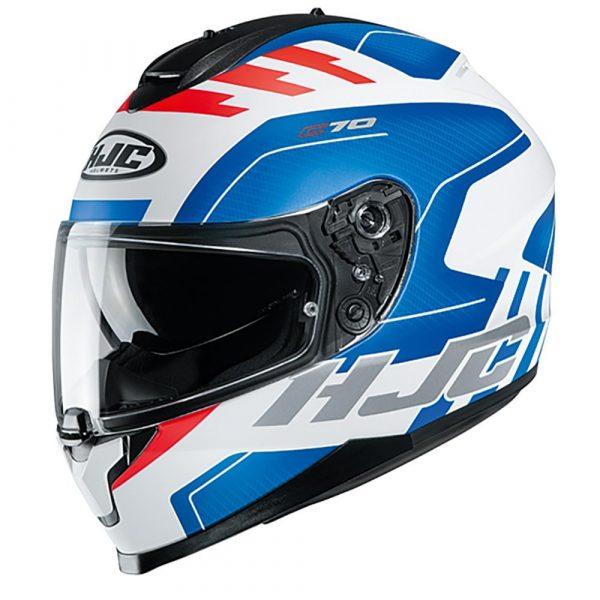 HJC C70 Koro MC21F Helmet - Red/White/Blue colour