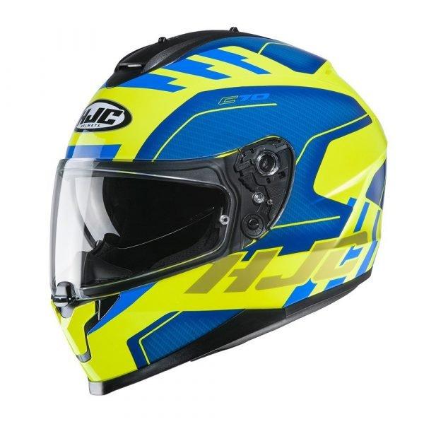 HJC C70 Koro MC21F Helmet - Yellow colour, Motorcycle Clothing Shop