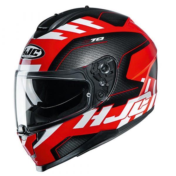 HJC C70 Koro MC21SF Helmet - Red colour, Chelsea Motorcycle Group Shop