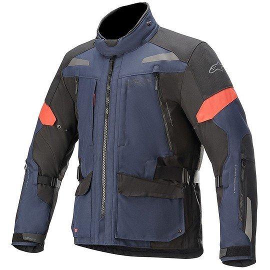 Alpinestars Valparaiso V3 Drystar Motorcycle Jacket - Dark Blue/Black colour, MCS