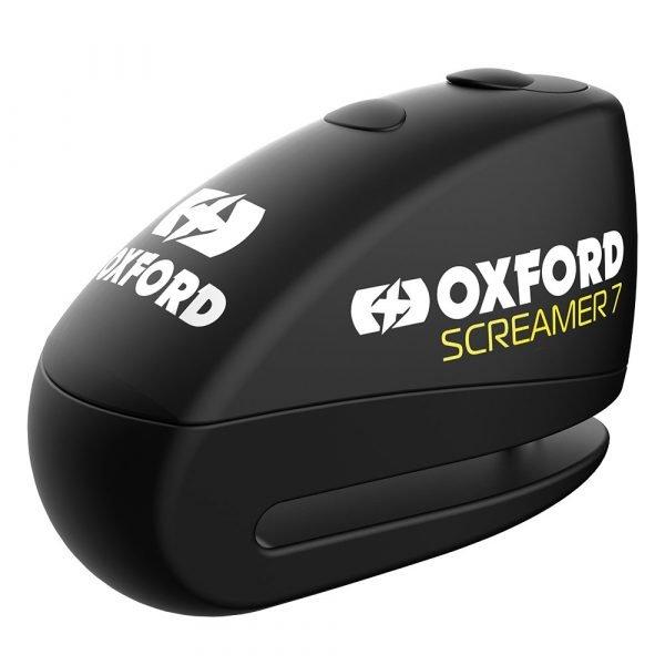 Oxford Screamer7 Alarm Disc Lock - Black/Black colour, MCS, Chelsea