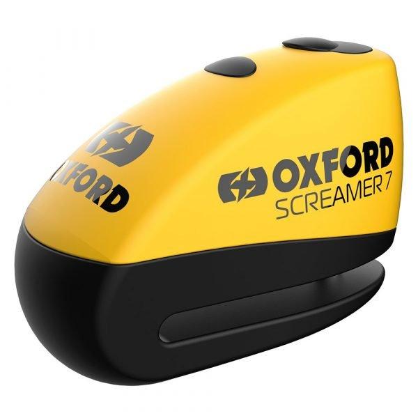 Oxford Screamer7 Alarm Disc Lock - Yellow/Black colour, Chelsea Clothing