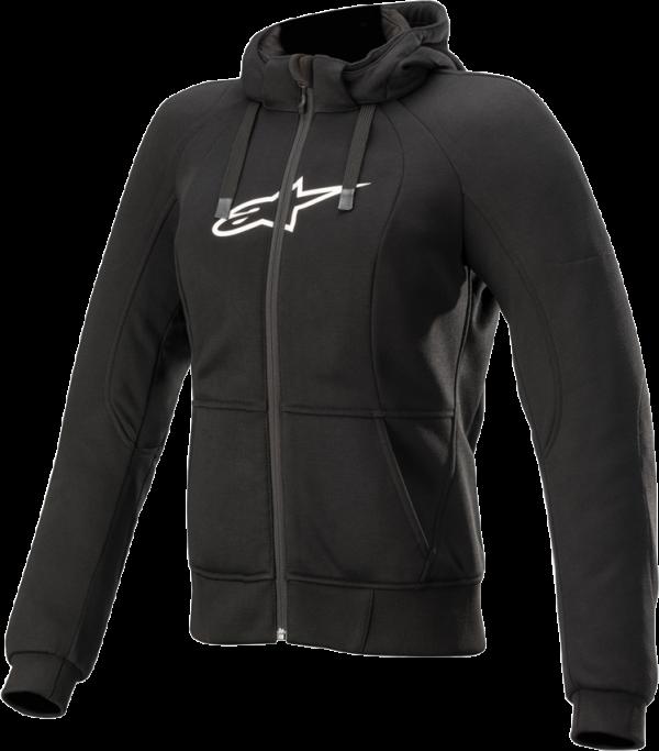 Alpinestars Stella Chrome Sport Hoodie - Black colour, Motorbike Clothing, UK