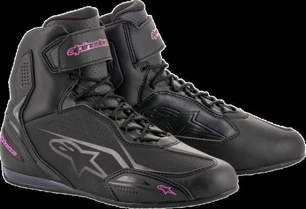 Alpinestars Stella Faster-3 Shoes - Black & Fuchsia