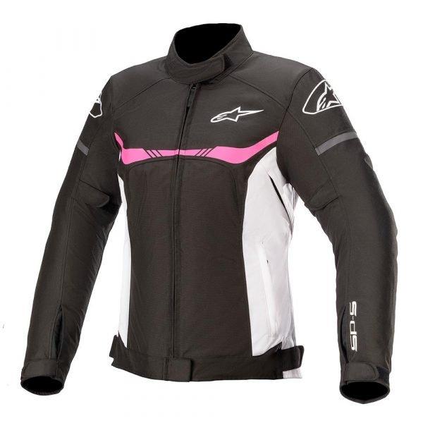 Alpinestars Stella T-SPS Waterproof Jacket - Black/White/Pink colour