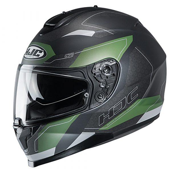 HJC C70 Canex Helmet - Green colour, Chelsea