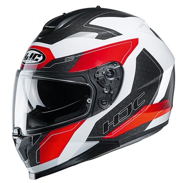 HJC C70 Canex Motorbike Helmet - Red colour, CMG, Chelsea