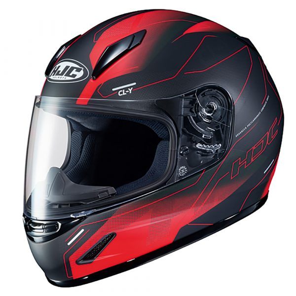 HJC CL-Y Taze MC1 Helmet - Red colour, Chelsea Motorcycles Group Shop
