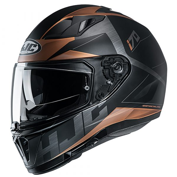 HJC I70 Eluma MC9SF Helmet - Gold Brown colour, Scooter Shop, Chelsea, UK