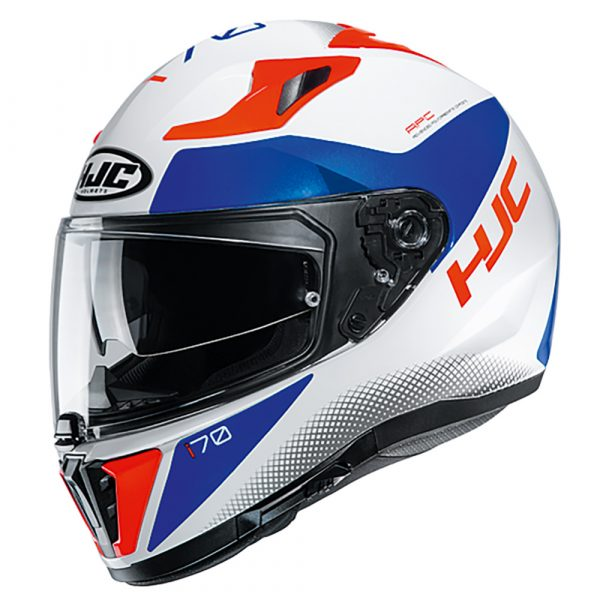 HJC I70 Tas Helmet - MC216H, White/Blue colour, Chelsea