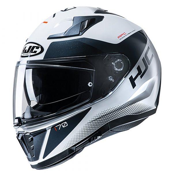 HJC I70 Tas Helmet - White colour, Chelsea Motorcycles