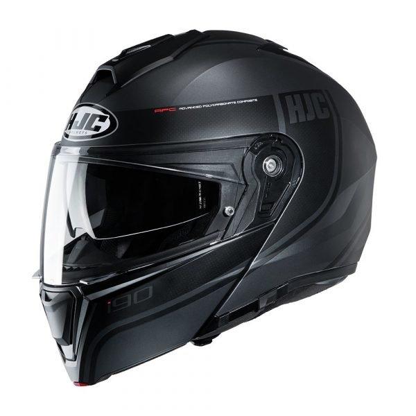 HJC I90 Davan Scooter Helmet - Black colour, London