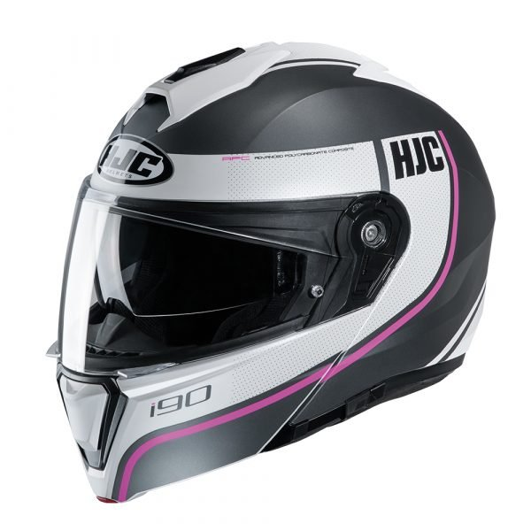 HJC I90 Davan Helmet - Pink colour, Motorbike Clothing Shop, Chelsea
