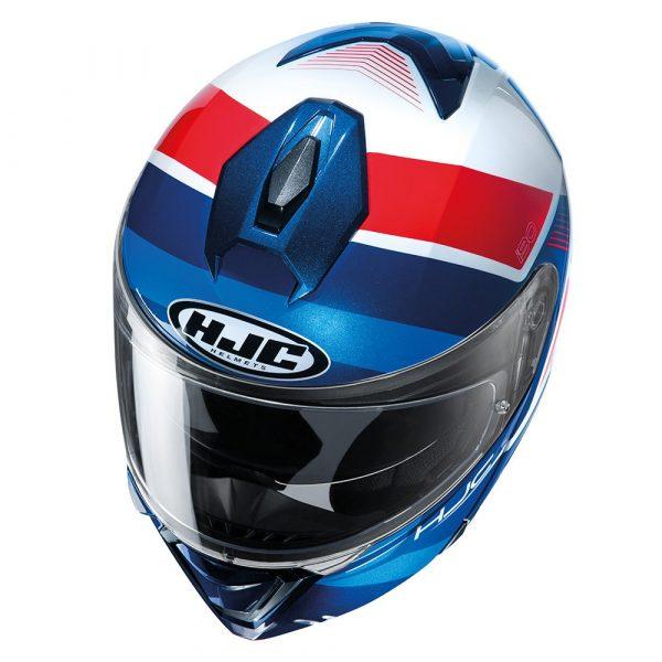 HJC I90 Hollen Helmet - Red/White/Blue colour, UK