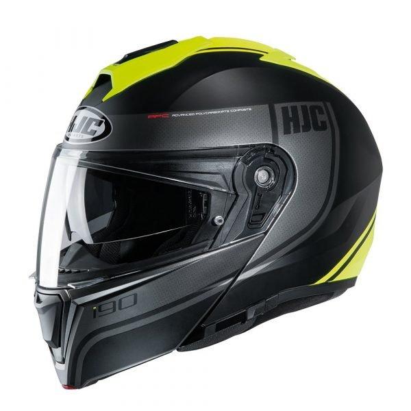HJC I90 Davan Helmet MC4HSF Yellow