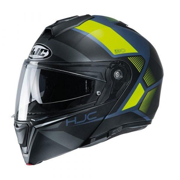 HJC I90 Hollen Helmet MC4HSF Yellow
