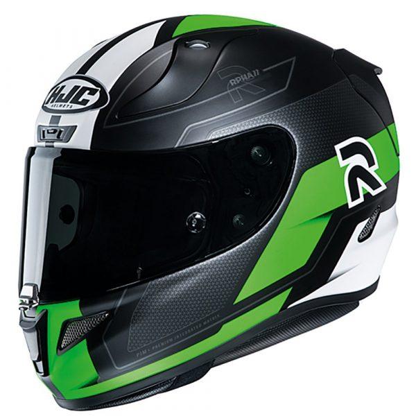 HJC RPHA 11 Helmet 2020 - Black/Green/White colour