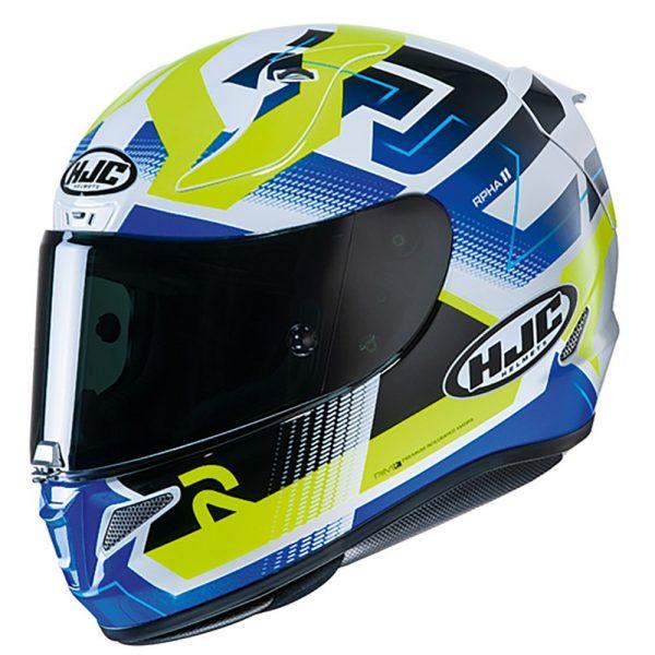 HJC RPHA 11 Helmet 2020 - Blue/White/Fluo Yellow colour, Chelsea
