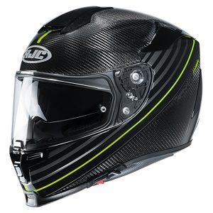 HJC RPHA 70 Helmet 2020 - Black/Yellow, MCS, London