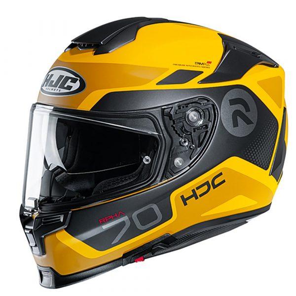 HJC RPHA 70 Helmet 2020 - Yellow/Black colour, Chelsea