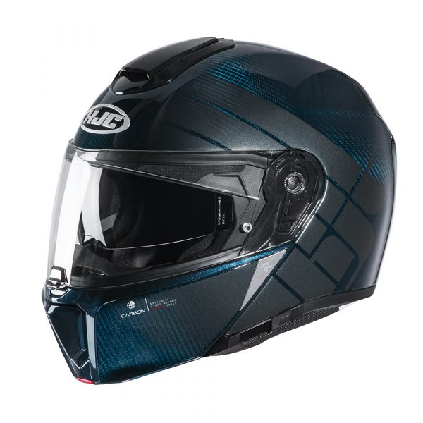 HJC RPHA 90s Balian Carbon Helmet - Blue colour, CMG Shop London