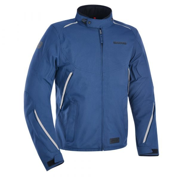 Oxford Hinterland MS Jacket - Navy colour, Chelsea Motorcycles