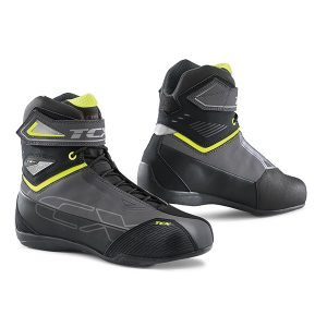 TCX Rush 2 Waterproof Boots - Black/Grey/Fluo Yellow colour