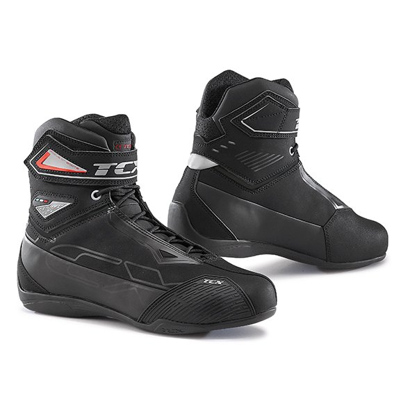 TCX Rush 2 Waterproof Boots - Black/Grey/Red colour