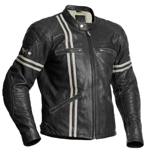 Halvarssons Leather jacket Dresden Black:white