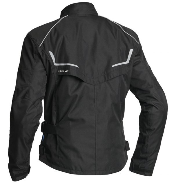 Lindstrands Textile jacket Halden Lady Black back