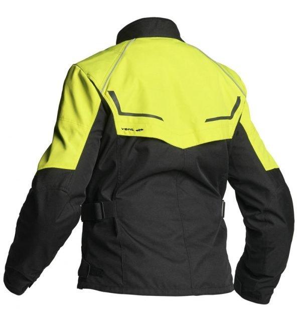 Lindstrands Textile jacket Halden Lady Yellow back