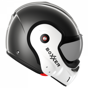 Roof Boxxer 9 Helmet - Face Metal/Pearl White