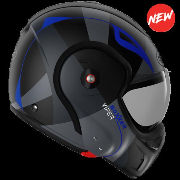 Roof Boxxer 9 Helmet - viper mat black blue
