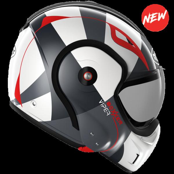 Roof Boxxer 9 Helmet - viper red black white