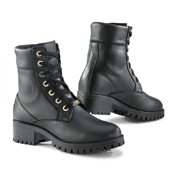 TCX Lady Smoke Waterproof Motorbike Boots - Black colour, CMG, Chelsea