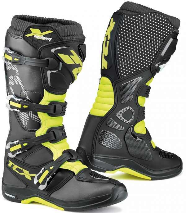 TCX X-Helium Michelin Boots - Black/Yellow Fluo colour, London, UK