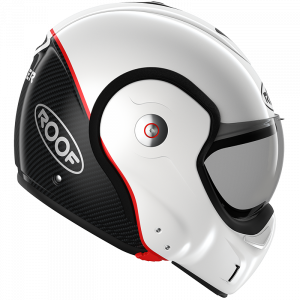 Roof Boxxer Carbon Motorbike Helmet - Uni Pearl White